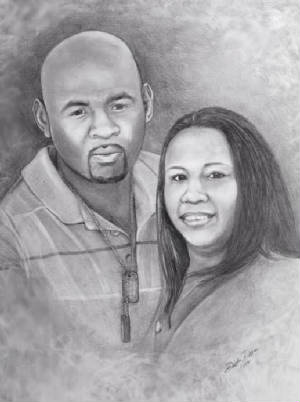 couple portrait pencil valentine gift christmas