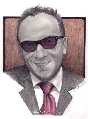 colored pencil graphite portrait elvis costello