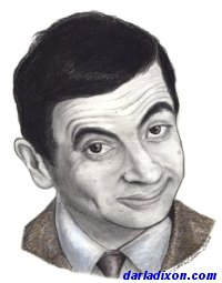 colored pencil portrait mr bean thumbnail