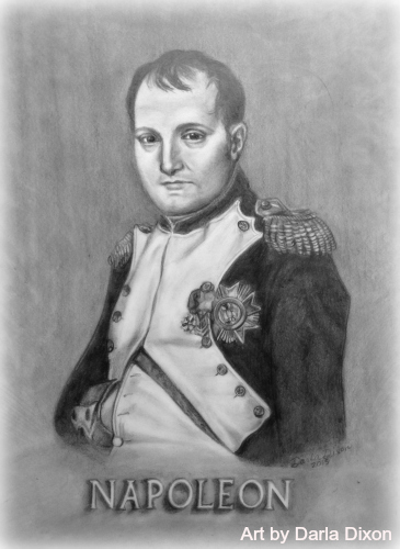 napoleon bonaparte pencil drawing portrait art