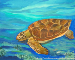 acrylic painting sea turtle seaturtle darla dixon